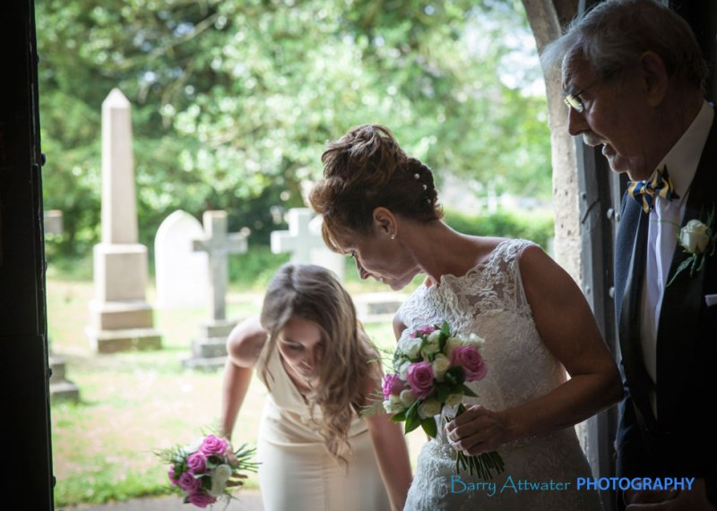 Wedding St Mary Church, Hutton, North Somerset