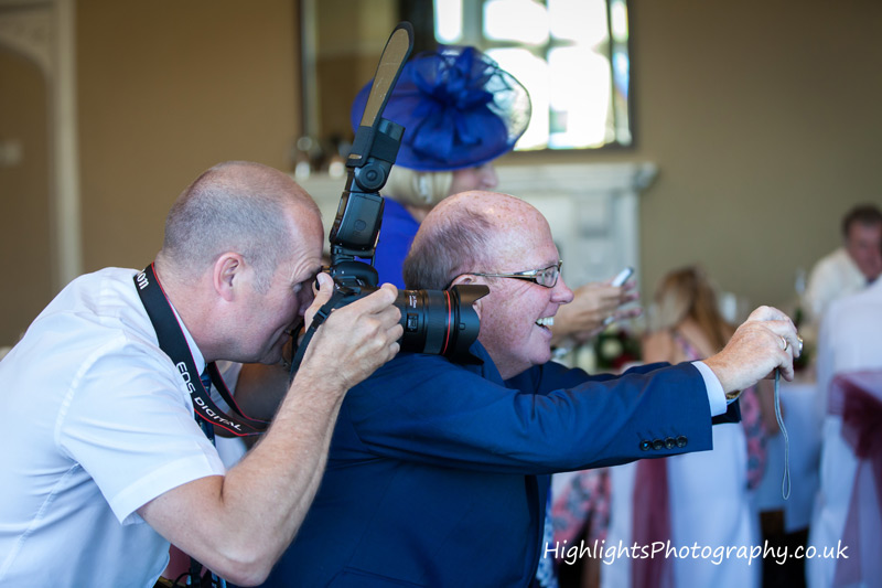 Highlights Photography having fun at a Tortworth Court Wedding