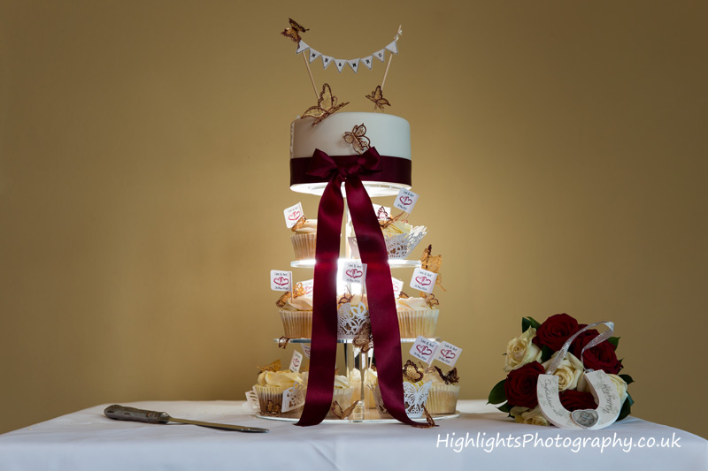 Wedding cake at Tortworth Court Wedding by Highlights Photography