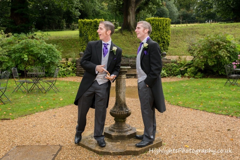 Wedding Groomsmen Photographed at Coombe Lodge Somerset - Highlights Photography