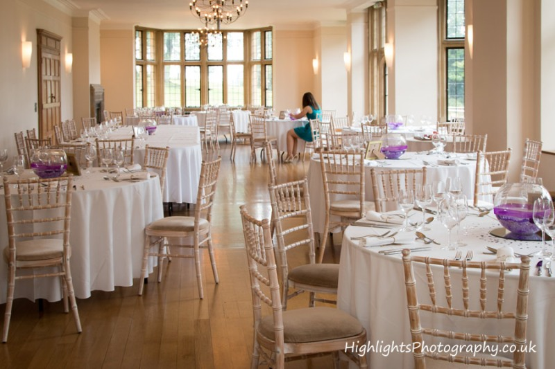 Wedding Breakfast room at Coombe Lodge Somerset