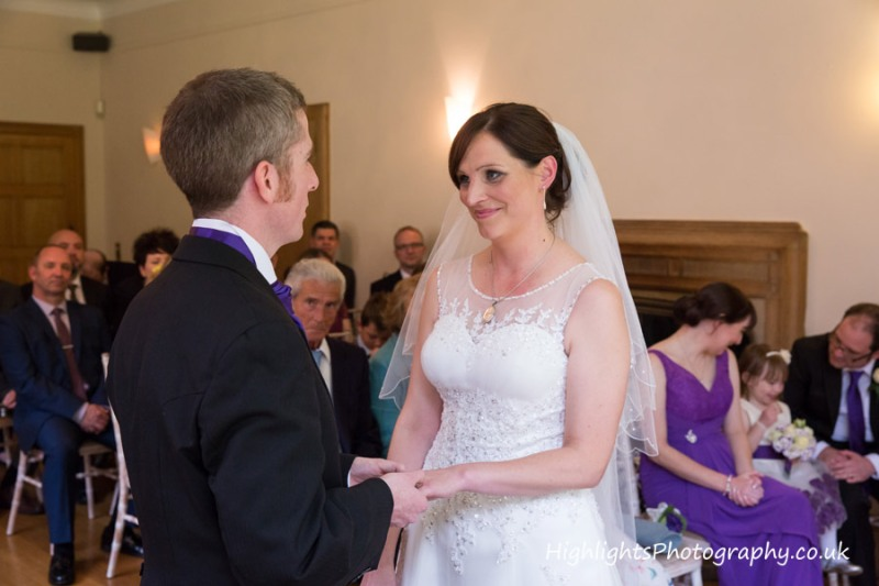 Wedding Photography of Ceremony at Coombe Lodge Somerset