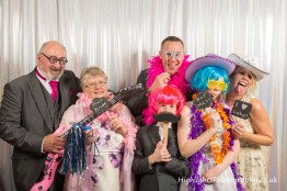 Fun with wedding photo booth Somerset