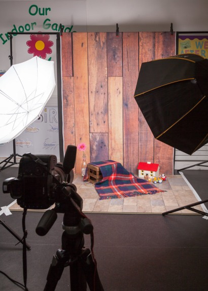 studio setup of Nursery Photography Weston super Mare