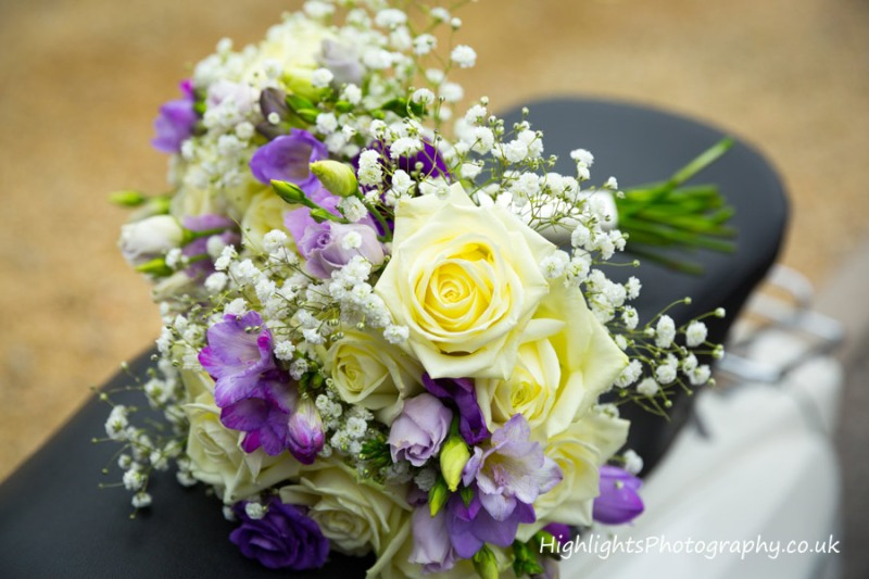 Brides flowers at Rookery Manor Wedding Somerset
