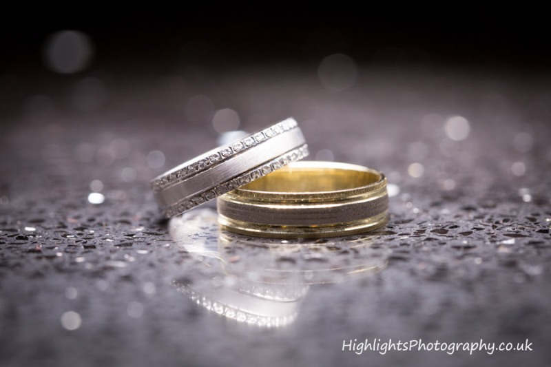 Wedding rings at Rookery Manor Wedding Somerset