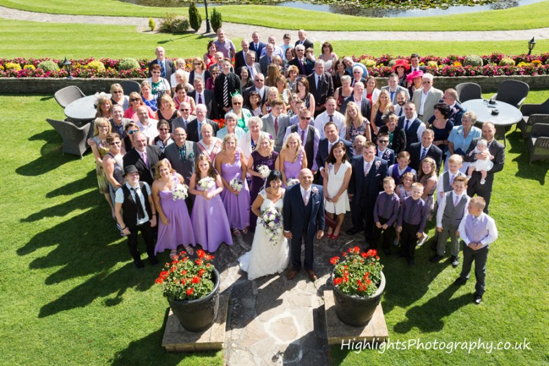 Group shot - Rookery Manor Wedding Somerset