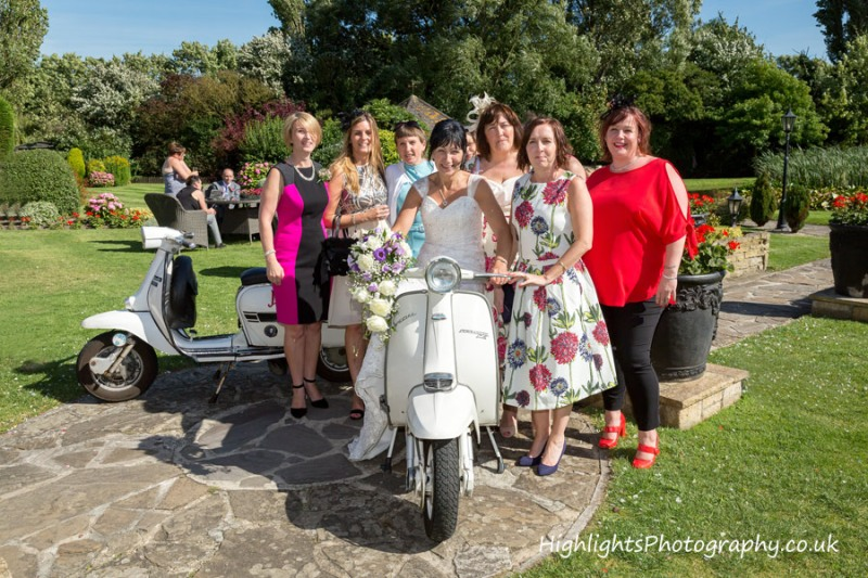 Scooter time - Rookery Manor Wedding Somerset