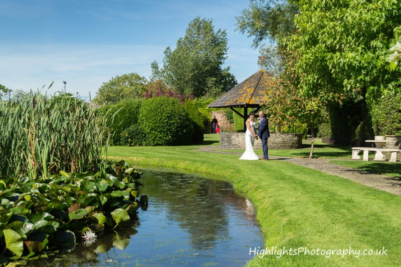 Nice gardens at Rookery Manor Wedding Somerset