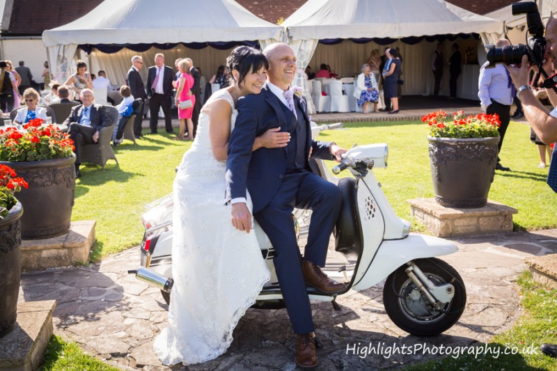 Rookery Manor Wedding Somerset - Scooters