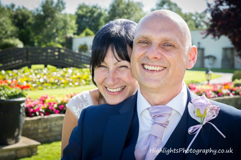 Bride & groom at Somerset Rookery Manor Wedding