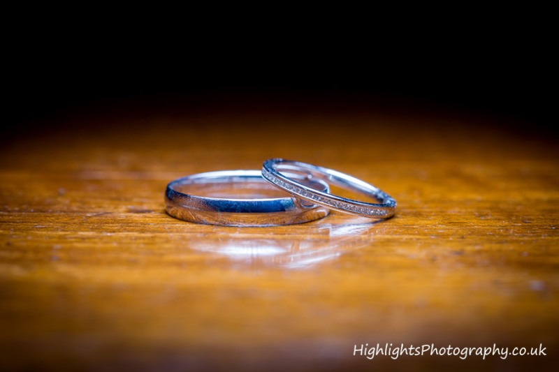 Wedding Rings at Banwell Castle Wedding Somerset