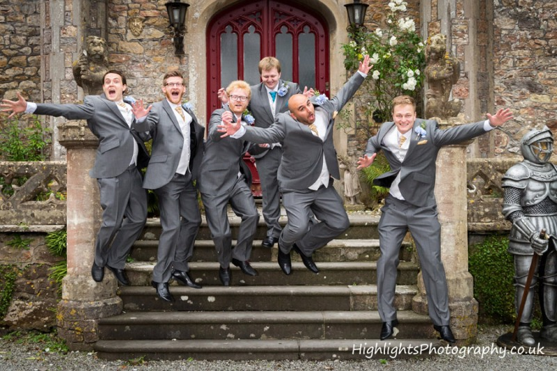 Banwell Castle Wedding Somerset - The Boys