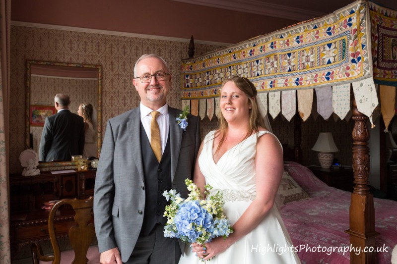 Proud Dad - Banwell Castle Wedding Somerset