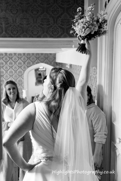 Bride at Banwell Castle Wedding Somerset
