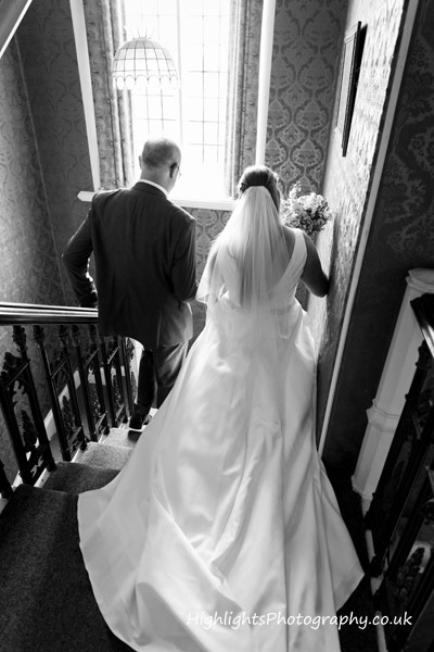 Dad & Bride at Banwell Castle Wedding Somerset