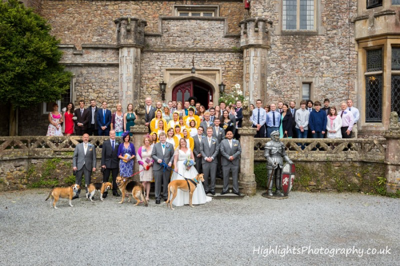Banwell Castle Wedding Somerset - The group