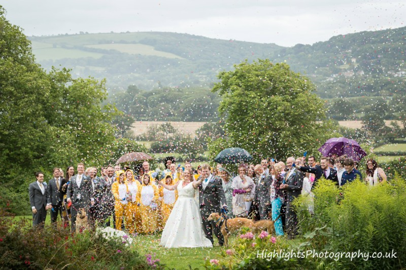 Banwell Castle Wedding Somerset - Confetti time