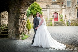 Somerset Banwell Castle Wedding - under the arch