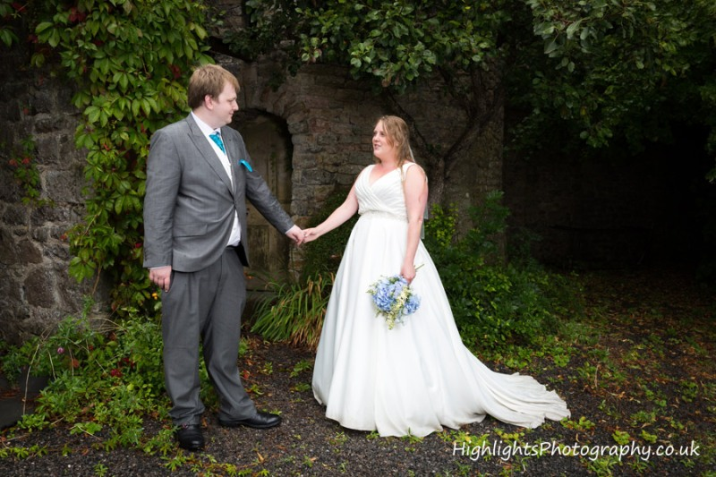 Wedding Banwell Castle Somerset