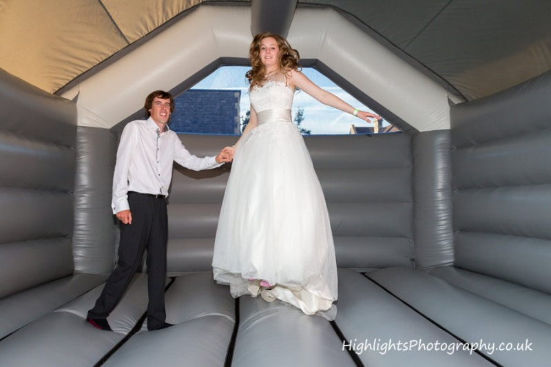 Weston super Mare Wedding - Bouncy Castle