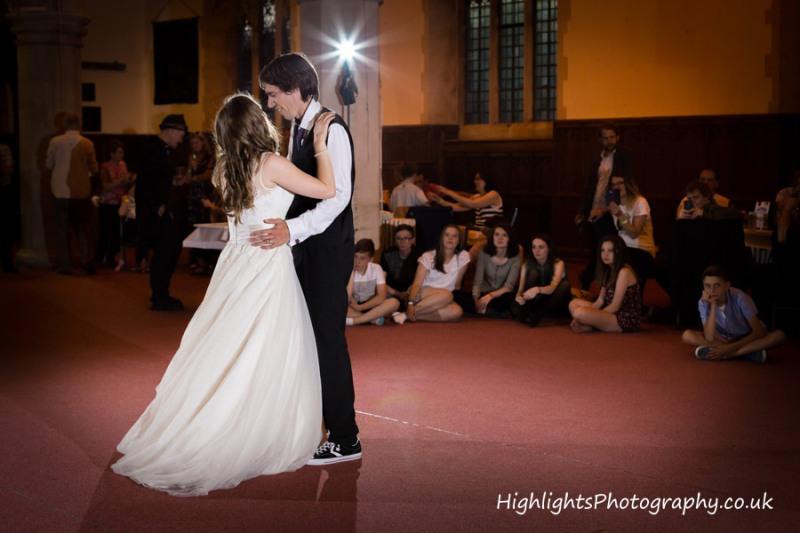 First dance at Weston super Mare Wedding