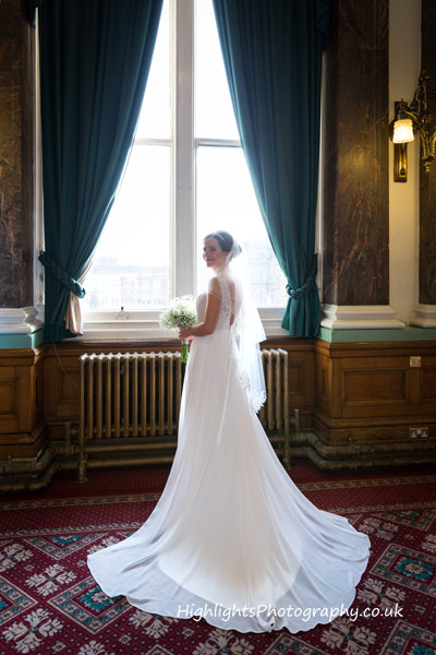 Brides dress - Birmingham Council House Wedding