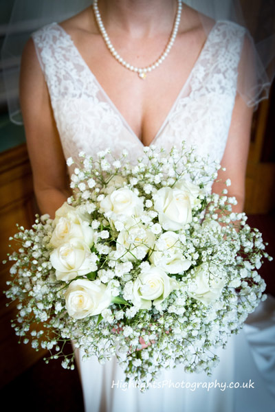 Brides flowers - Birmingham Council House Wedding venue