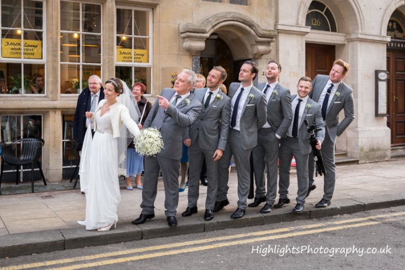Waiting for the bus - Wedding at Birmingham Council House