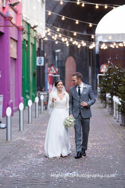 Wedding Photography at Birmingham Custard Factory