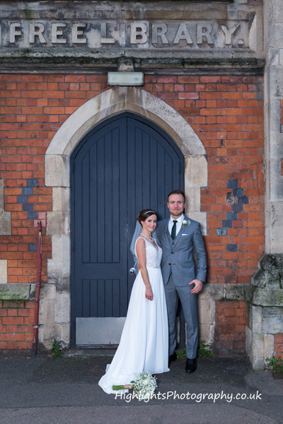 Bride and Groom at Birmingham Council House Wedding