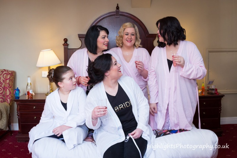 Fun with the Bridesmaids - Tortworth Court